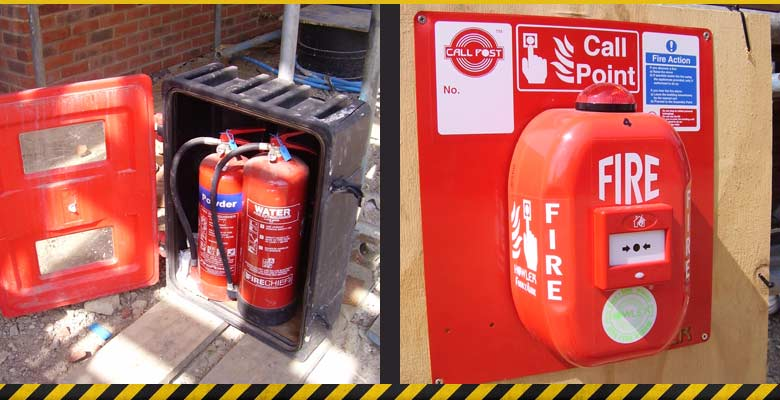 fire extinguishers and fire alarm