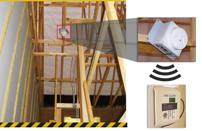 timber frame building fire alarms